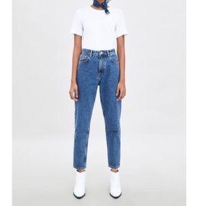 Zara Trafaluc Denimwear High Waisted Mom Jeans 4